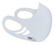 An antimicrobial, breathable, comfortable and washable white color spacer face mask